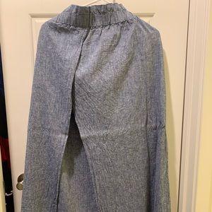 express high waisted front slit maxi skirt
